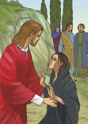 Quando Maria vide Gesù si gettò ai suoi piedi dicendogli: «Signore, se tu fossi stato qui, mio fratello non sarebbe morto».