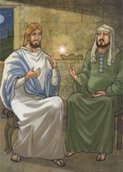 Gesù a Nicodemo: «Dio ha tanto amato il mondo da dare il Figlio, unigenito, perché chi crede in lui abbia la vita eterna».