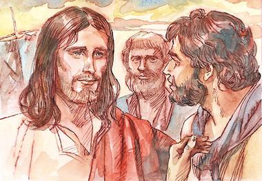 """Fissando lo sguardo su di lui, Gesù disse: """"Tu sei Simone, il figlio di Giovanni; sarai chiamato Cefa"""