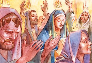 Vieni, Spirito Santo, riempi i cuori dei tuoi fedeli e accendi in essi il fuoco del tuo amore.