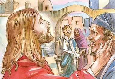 «Gesù gli pose le dita negli orecchi e con la saliva gli toccò la lingua e gli disse: Apriti!».