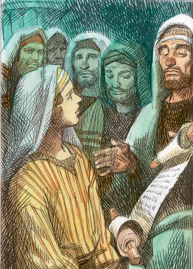Al vederlo tra i Maestri del Tempio, restarono stupiti, e sua madre gli disse: «Figlio, perché ci hai fatto questo?».