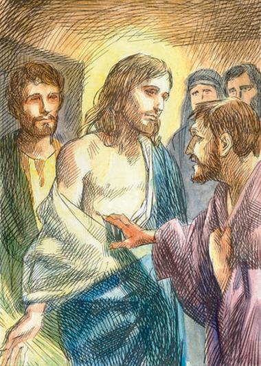 Tommaso tocca il costato a Gesù