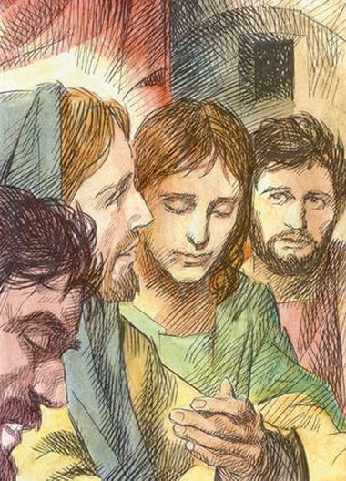 Gesù con alcuni discepoli