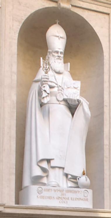 Statua di Gregorio di Narek (951-1003). Basilica di San Pietro
