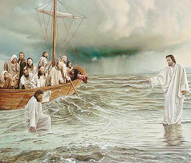 «Gesù cammina sulle acque». Foto Papaboys.it