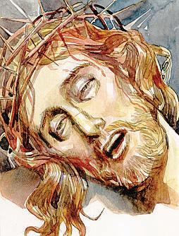 Crocifisso, illustrazione di Giorgio Trevisan.